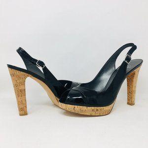 Stuart Weitzman Black Patent Platform High Heels